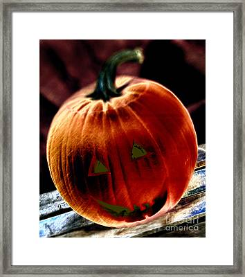 Jacko Lantern Framed Print by Iris Richardson