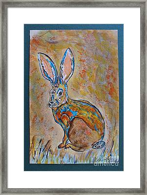 Jackrabbit Framed Print by Ella Kaye Dickey