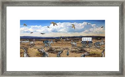 Jackrabbit Juxtaposition  At Owyhee View Framed Print