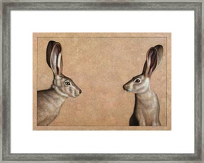 Jackrabbits Framed Print by James W Johnson