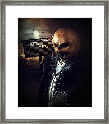 Jack's Back Framed Print by Shanina Conway