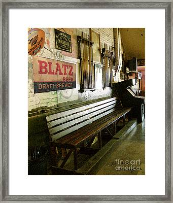 Jack's Bench Framed Print