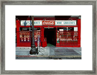 Jack's Market Framed Print by David Hohmann