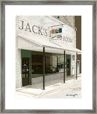 Jack's Pool Room Framed Print
