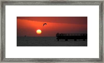 Jacks Sunrise Framed Print by Leticia Latocki