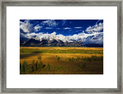 Framed Print featuring the photograph Jackson And Salt Lake Usa by Richard Wiggins