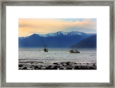 Framed Print featuring the photograph Jackson Bay South Westland New Zealand by Amanda Stadther