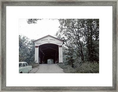 Framed Print featuring the photograph Jackson Bridge by John Mathews