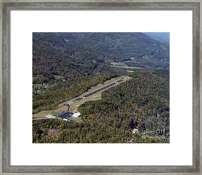 Jackson County Airport In Cullowhee Nc Framed Print