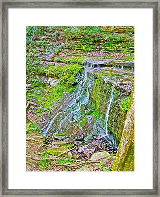 Jackson Falls At Mile 405 Of Natchez Trace Parkway-tennessee Framed Print by Ruth Hager