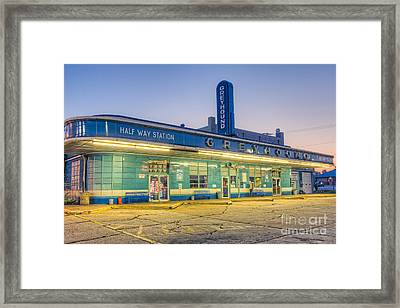 Jackson Greyhound Bus Station I Framed Print