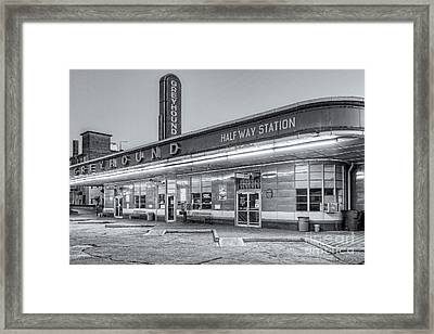 Jackson Greyhound Bus Station Iv Framed Print by Clarence Holmes