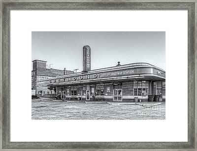 Jackson Greyhound Bus Station Vi Framed Print by Clarence Holmes