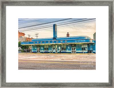 Jackson Greyhound Bus Station Vii Framed Print