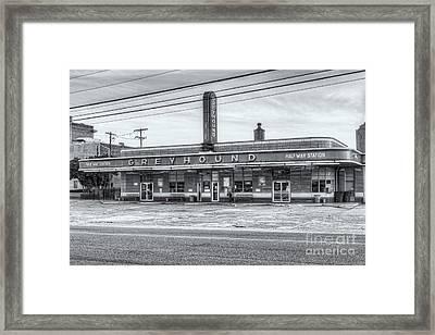 Jackson Greyhound Bus Station Viii Framed Print