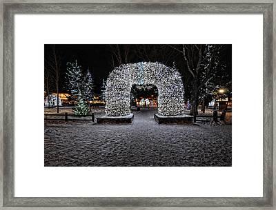 Jackson Hole Square Framed Print