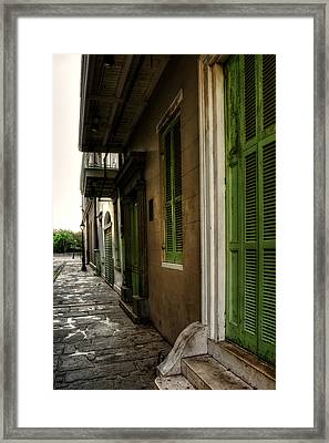 Jackson House Toward Jackson Square Framed Print