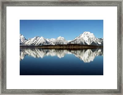 Jackson Lake Framed Print by David Yunker