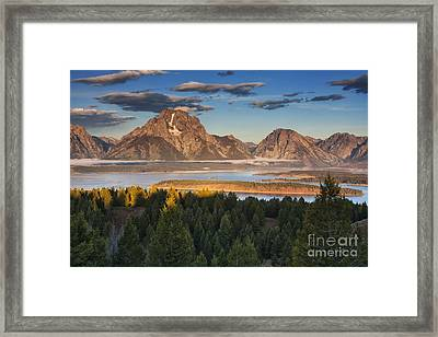 Jackson Lake Morning Framed Print by Mark Kiver