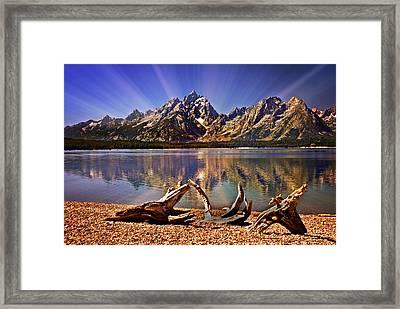 Jackson Lake Mt. Moran Framed Print by Marty Koch