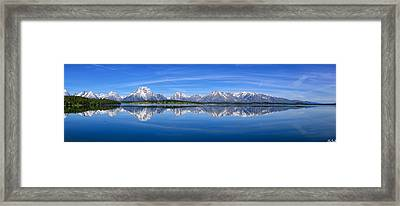 Jackson Lake Spring Panorama Limited Edition Framed Print by Greg Norrell