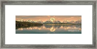 Jackson Lake Sunrise - Grand Teton Framed Print