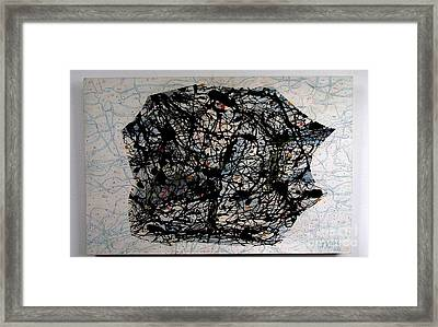 Jackson Pollock Paint By Number  #30 Framed Print by Bill Czappa