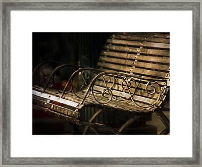 Jackson Square Bench Framed Print