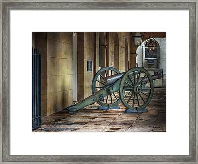 Jackson Square Cannon Framed Print by Brenda Bryant