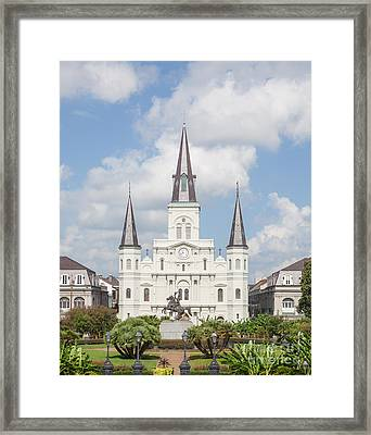 Jackson Square Cathedral Framed Print by Kay Pickens