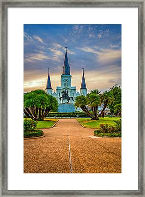 Jackson Square Cathedral Framed Print by Steve Harrington