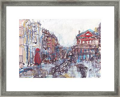 Jackson Square French Quarter Framed Print by Edward Ching