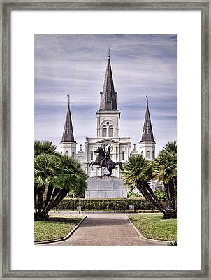 Jackson Square Framed Print by Heather Applegate
