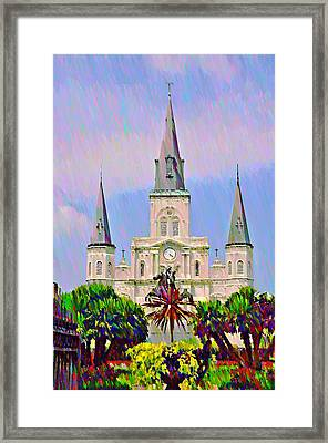 Jackson Square In The French Quarter Framed Print by Bill Cannon