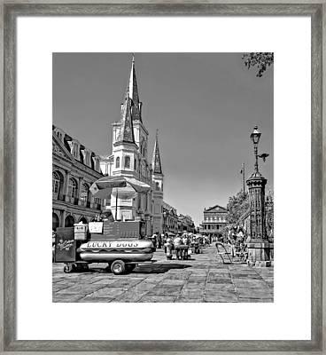 Jackson Square Monochrome Framed Print