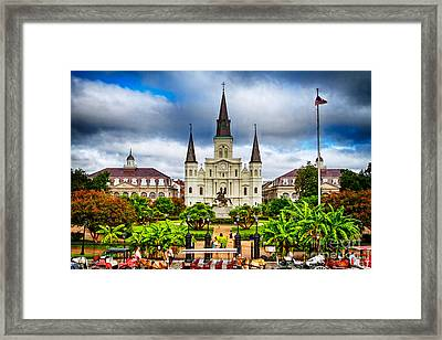Jackson Square New Orleans Framed Print by Jarrod Erbe