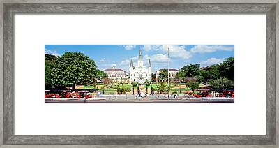 Jackson Square, New Orleans, Louisiana Framed Print by Panoramic Images