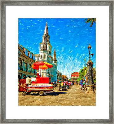 Jackson Square Painted Version Framed Print by Steve Harrington