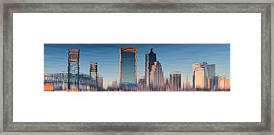Jacksonville Abstract Panorama Framed Print by Frozen in Time Fine Art Photography