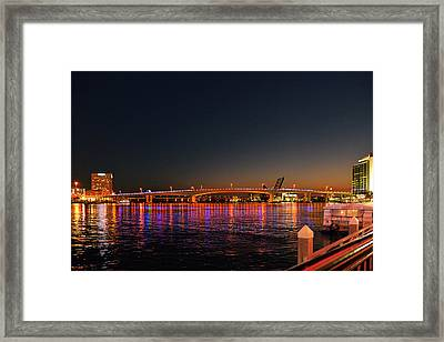 Jacksonville Acosta Bridge Framed Print by Christine Till