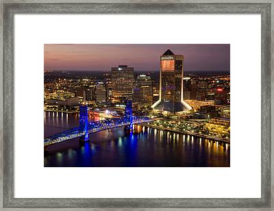 Jacksonville Aerial I Framed Print by Chris Moore