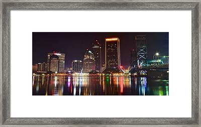 Jacksonville Aglow Framed Print