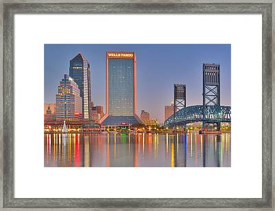 Jacksonville Alight At Daybreak Framed Print by Frozen in Time Fine Art Photography