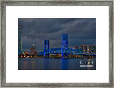 Jacksonville Blue Bridge Hdr Framed Print