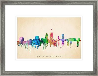 Jacksonville Cityscape Framed Print