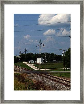 Jacksonville Il Rail Crossing 1 Framed Print by Jeff Iverson