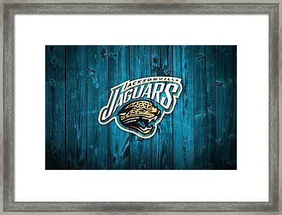 Jacksonville Jaguars Barn Door Framed Print