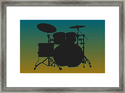 Jacksonville Jaguars Drum Set Framed Print by Joe Hamilton
