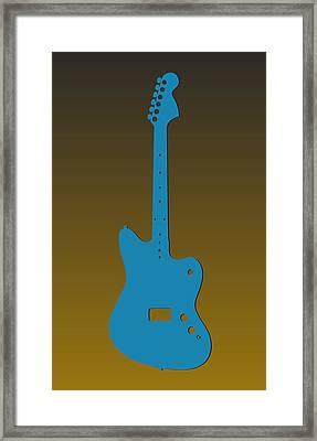 Jacksonville Jaguars Guitar Framed Print by Joe Hamilton