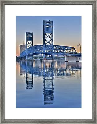 Jacksonville Main Street Bridge Framed Print